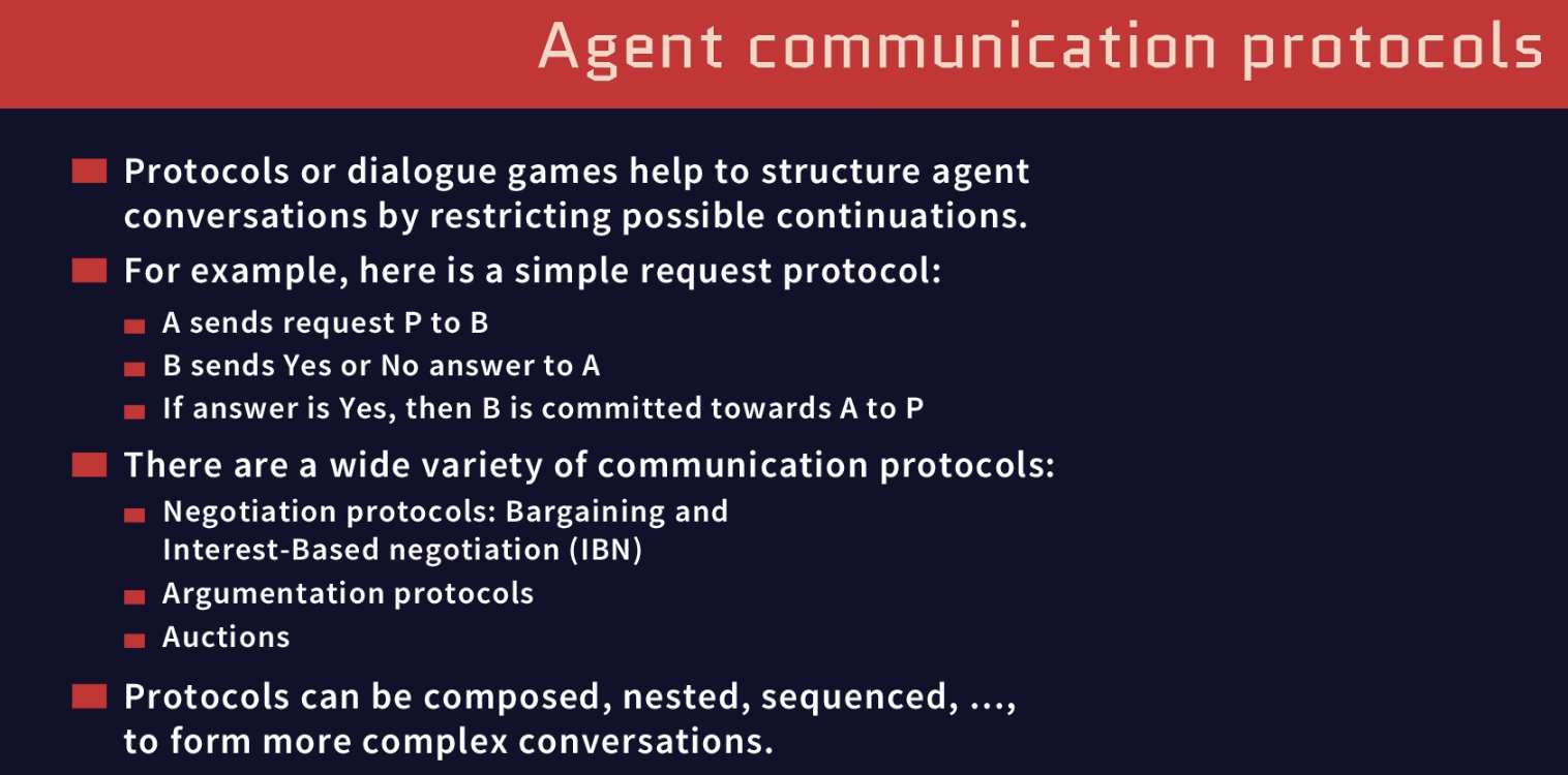 agent communication protocals